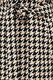 Женское Пальто П-399-100 GLEM лапка бело-бежевое размер 48, (030-0017), фото 5