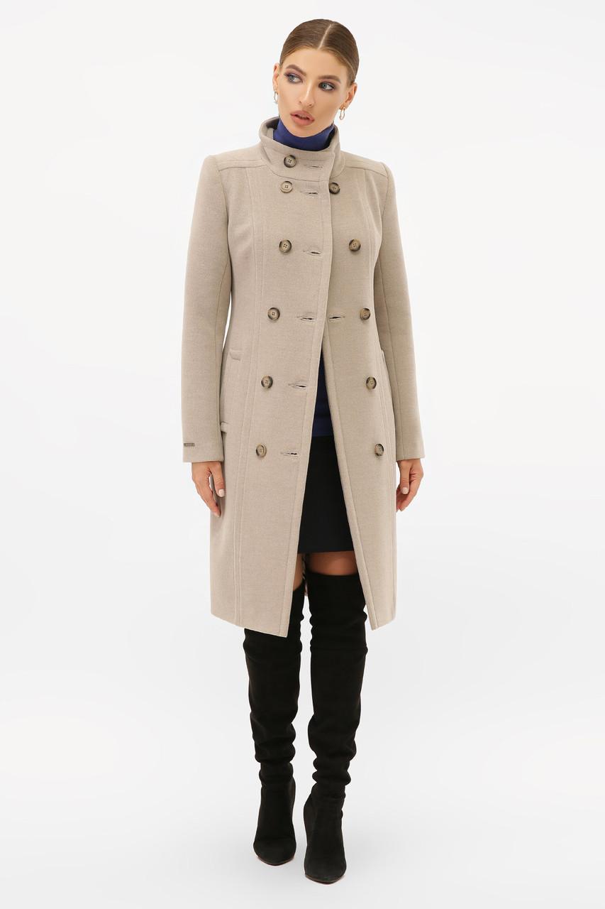 Женское Пальто П-407-100 GLEM св.серый размер 48, (030-0018)