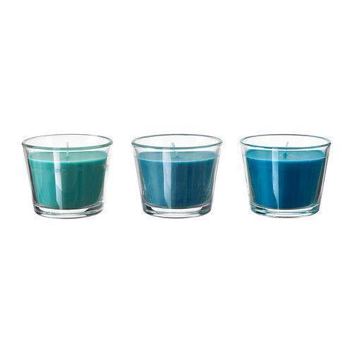 БРЭККААроматическая свеча в стакане, голубой