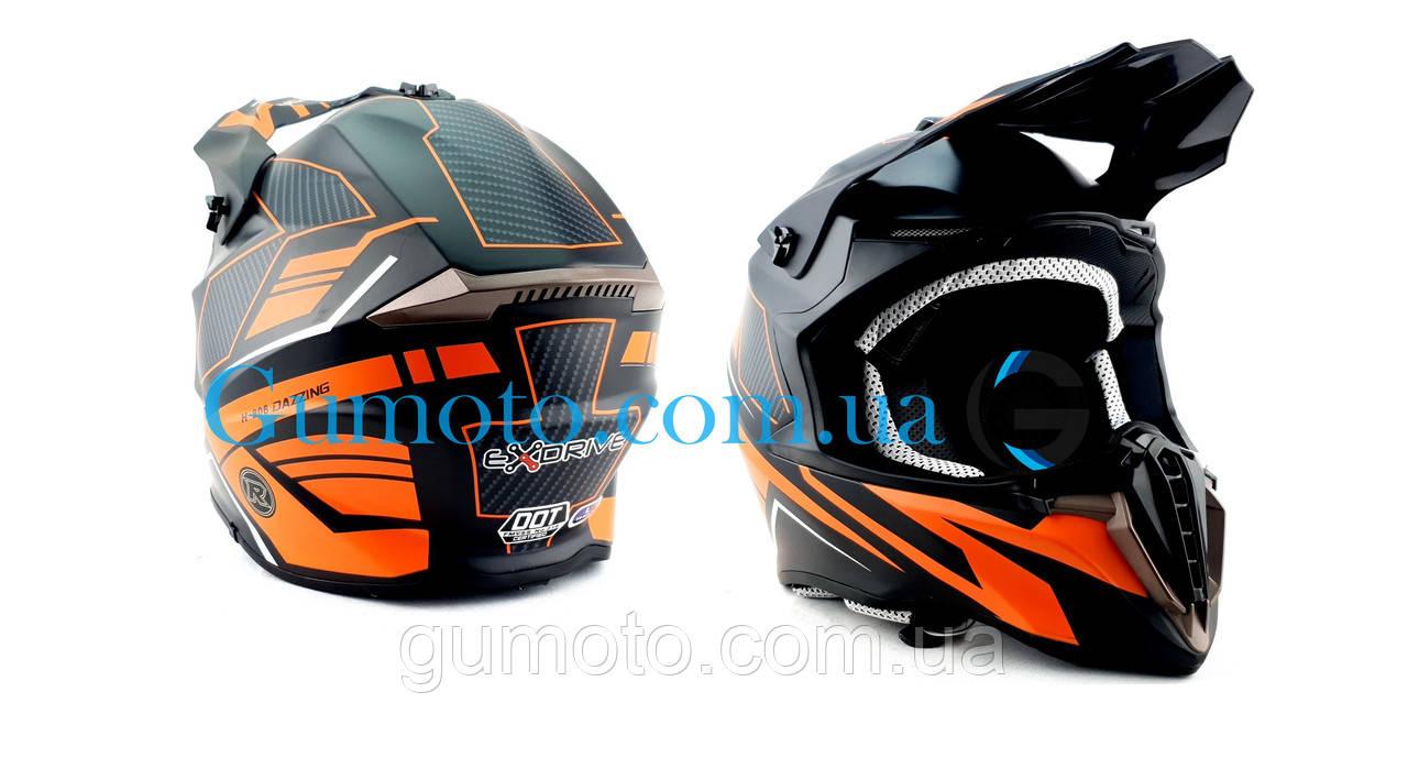 Кроссовый мотошлем Эндуро 806 Orange Matt S/M