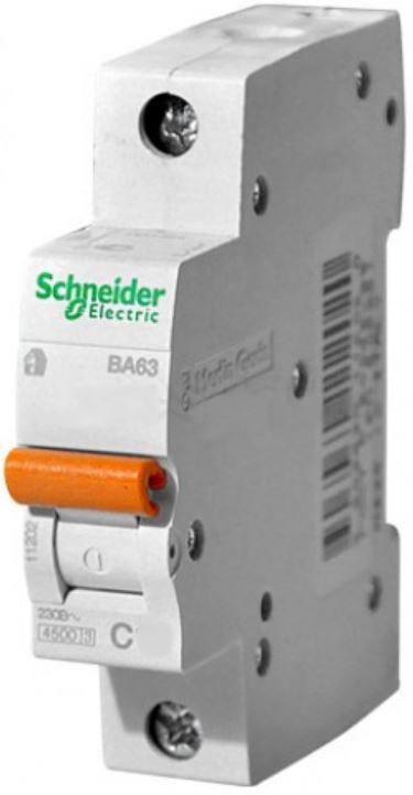Автоматический выключатель Schneider Electric ВА63, 1п, 10А С