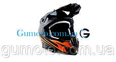 Кроссовый мотошлем Эндуро 806 Orange Matt S/M, фото 3