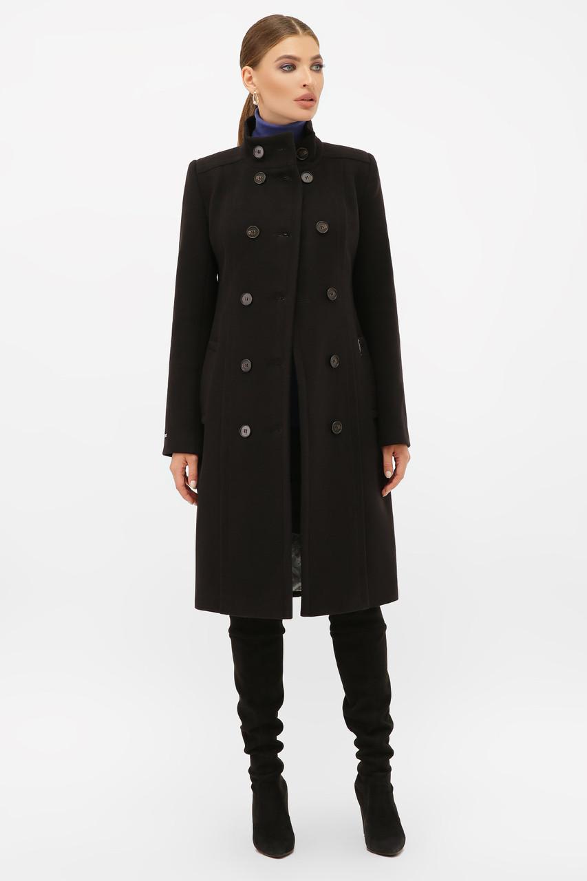 Женское Пальто П-407-100 GLEM черный размер 46, (030-0018)