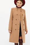 Женское Пальто П-407-100 GLEM темно-бежевый размер 42, (030-0018), фото 2