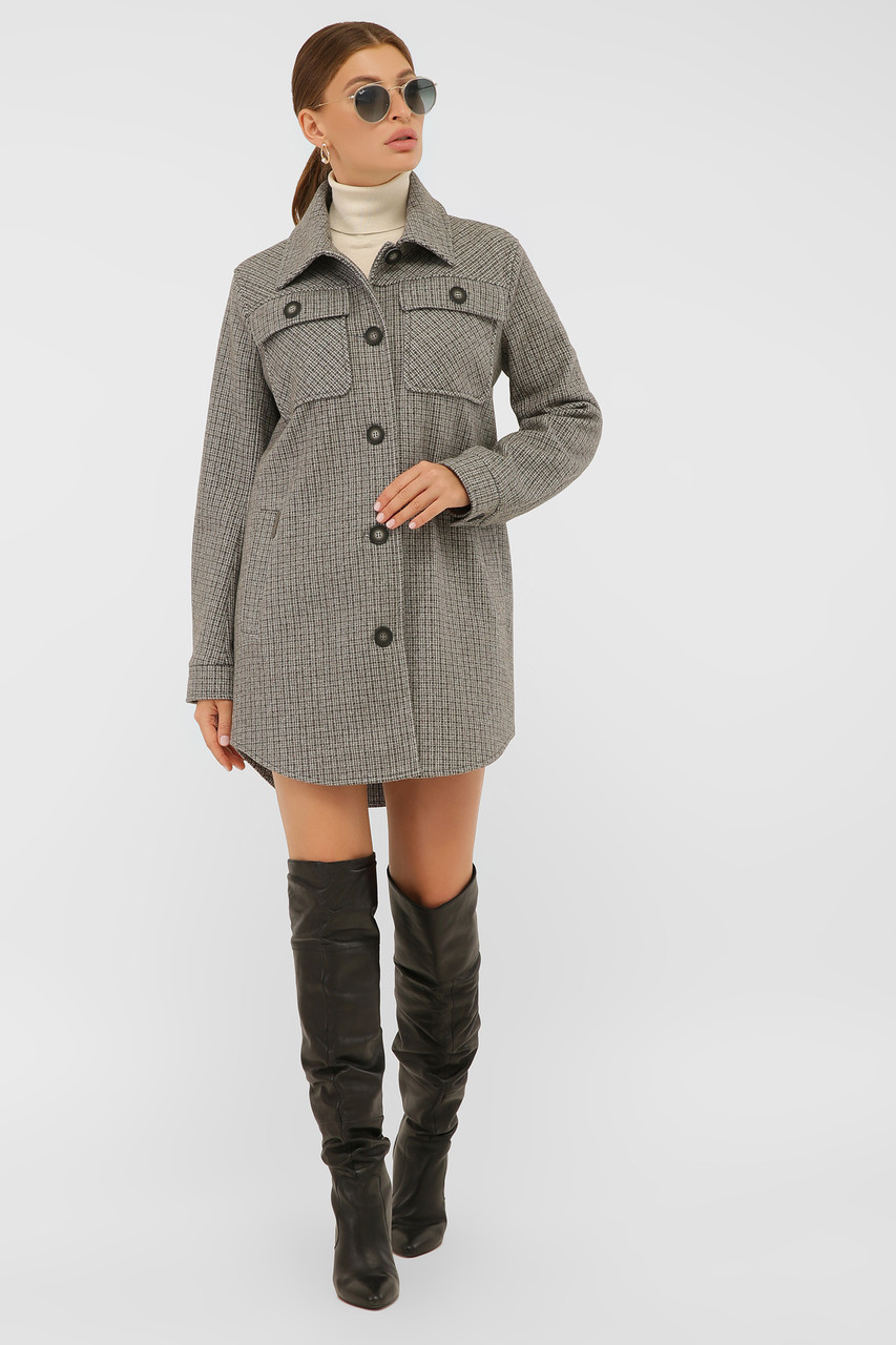 Женское Пальто П-409-85 GLEM серый размер 48, (030-0019)