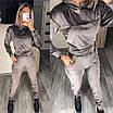 Женский спортивный костюм двойка из велюра с капюшоном, фото 2