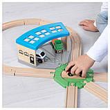 ЛИЛЛАБУ депо (дополнительная часть деревянной игрушки железная дорога, фото 5