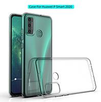 Чехол силиконовый для Huawei P Smart 2020 ультратонкий прозрачный
