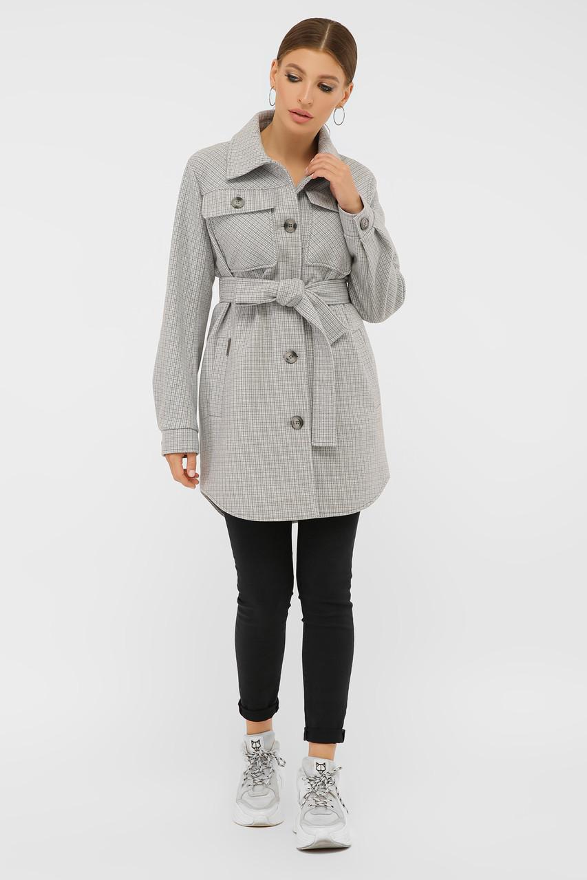 Женское Пальто П-409-85 GLEM св.серый размер 46, (030-0019)