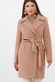 Пальто жіноче ПМ-100 GLEM гірчиця розмір 42, (030-0020)