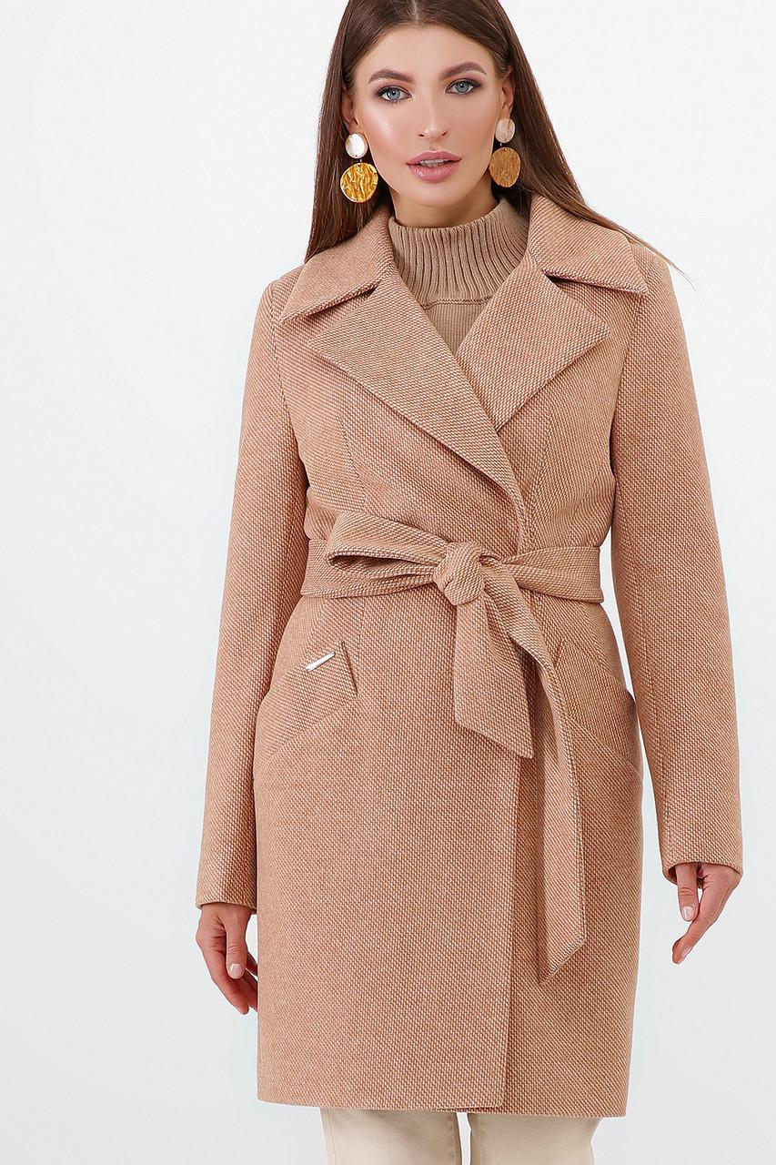 Женское Пальто ПМ-100 GLEM горчица размер 42, (030-0020)