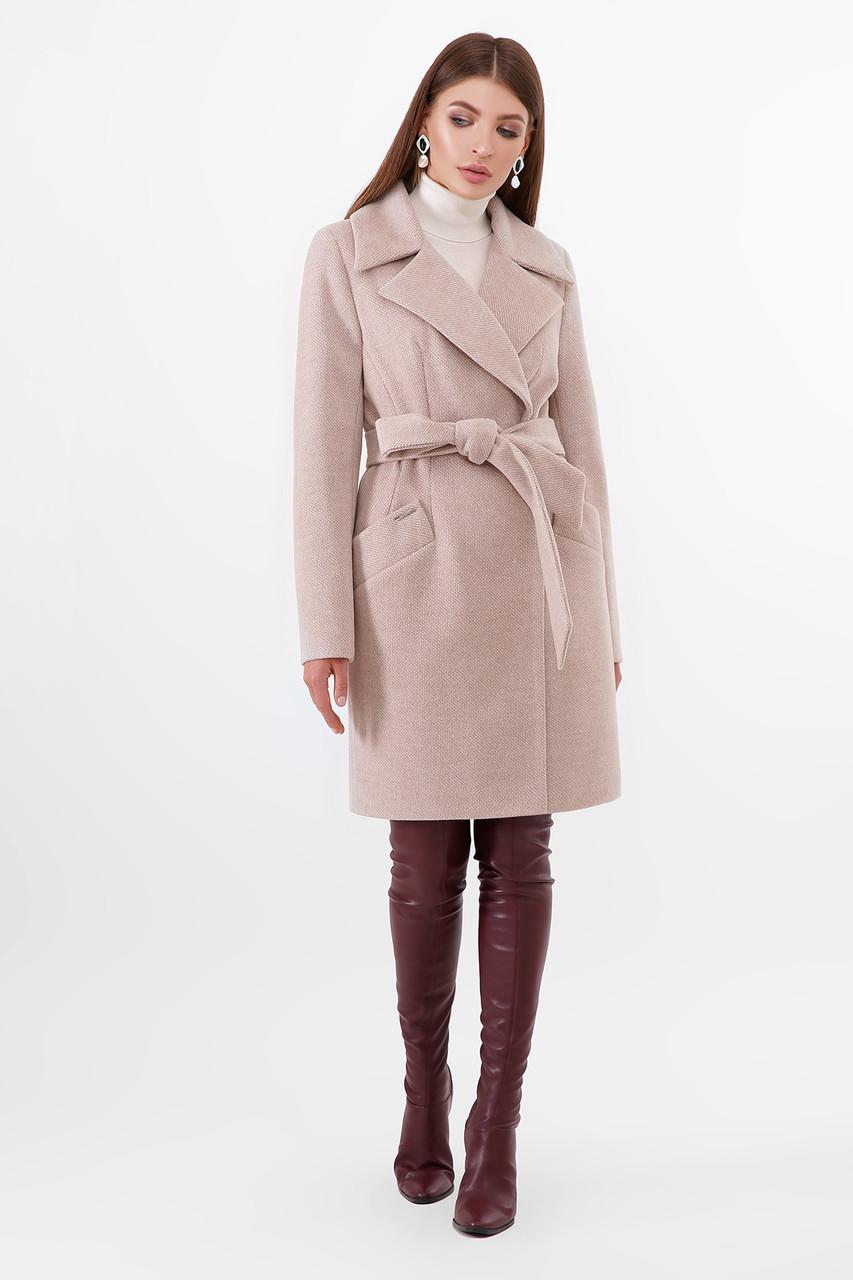 Женское Пальто ПМ-100 GLEM св.бежевый размер 42, (030-0020)
