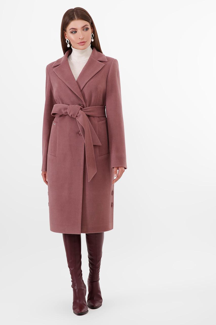 Женское Пальто ПМ-104 GLEM слива размер 44, (030-0021)