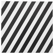ПИПИГ Серветка під прилади, в смужку, чорний/білий