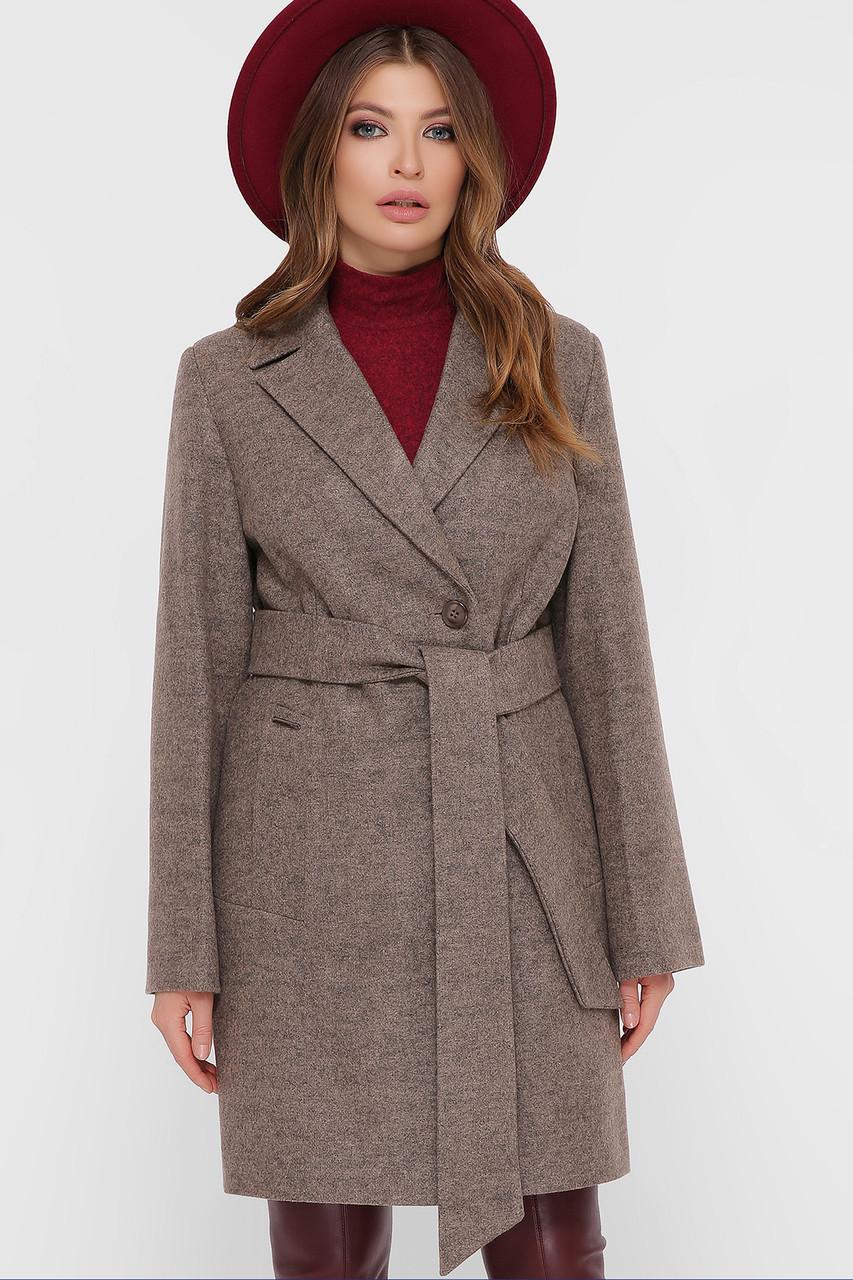 Женское Пальто ПМ-111 GLEM коричневый размер 48, (030-0023)