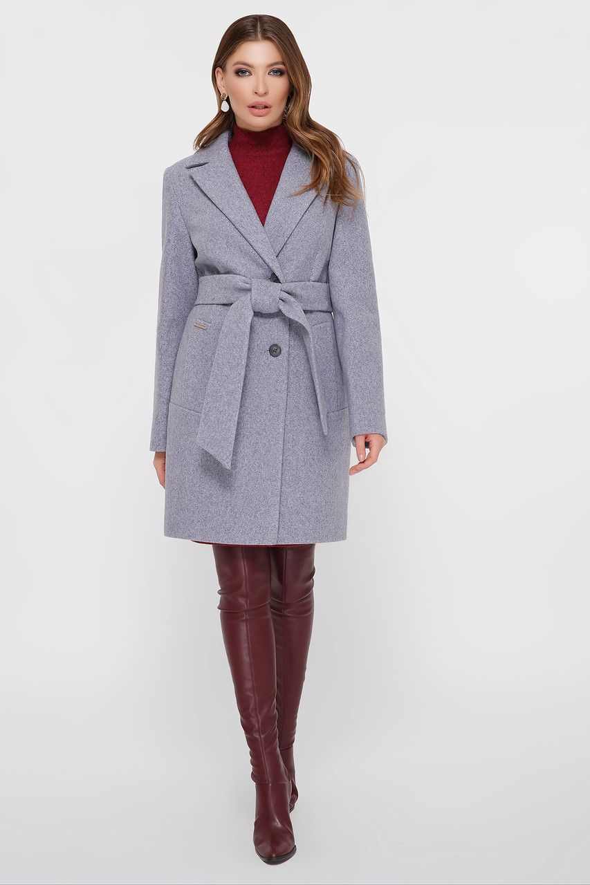 Женское Пальто ПМ-111 GLEM серый размер 42, (030-0023)