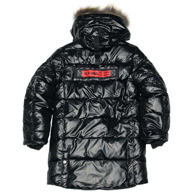зимняя подростковая куртка пальто удлиненная черная