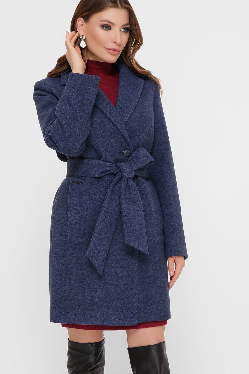 Женское Пальто ПМ-111 GLEM синий размер 50, (030-0023)
