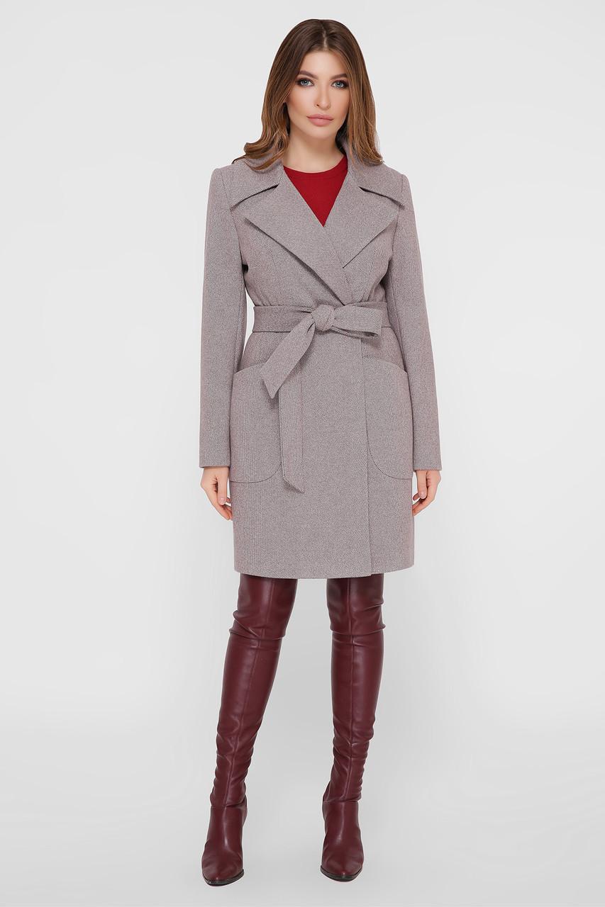 Женское Пальто ПМ-123 GLEM серый размер 48, (030-0024)