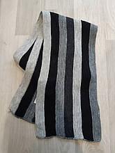 Мужской шарф в полоску, теплый б/у (пару раз одевался), размер 200*25см