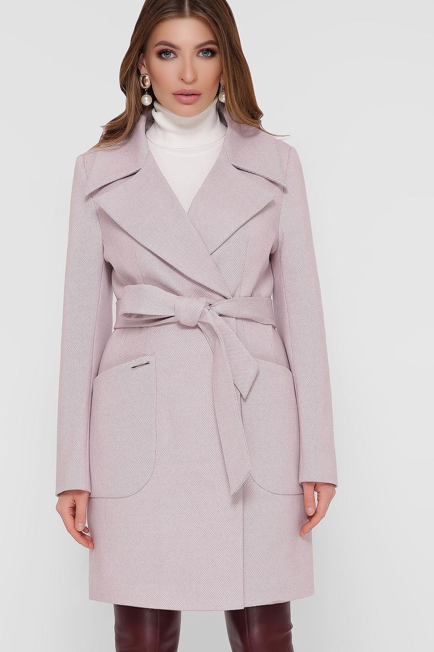 Женское Пальто ПМ-123 GLEM пудра размер 52, (030-0024)