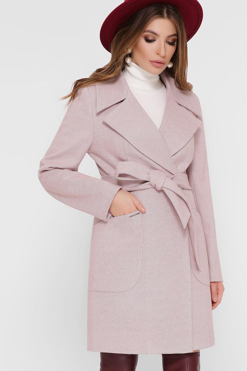 Женское Пальто ПМ-123 GLEM  персик размер 42, (030-0024)