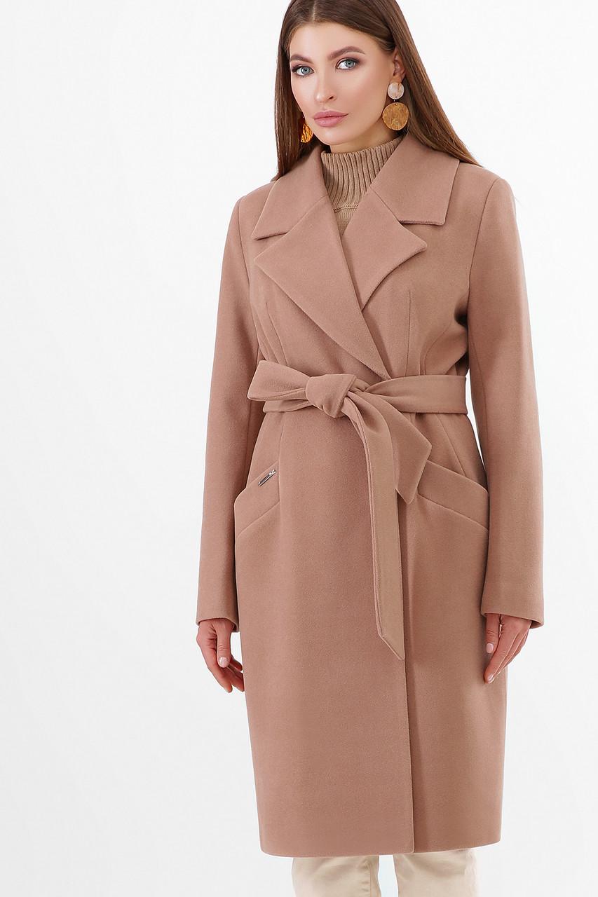 Женское Пальто ПМ-125 GLEM бежевый размер 44, (030-0025)
