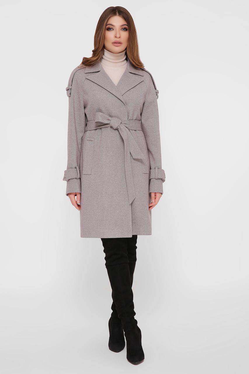 Женское Пальто ПМ-129 GLEM серый размер 48, (030-0026)
