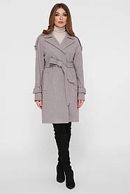 Женское Пальто ПМ-129 GLEM серый размер 50, (030-0026)