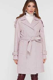 Женское Пальто ПМ-129 GLEM пудра размер 50, (030-0026)