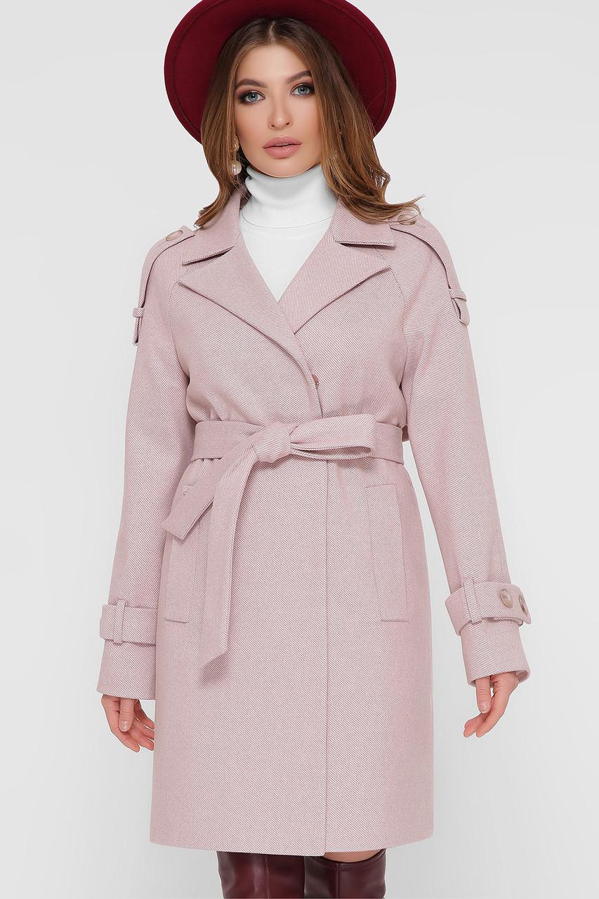 Женское Пальто ПМ-129 GLEM персик размер 44, (030-0026)