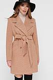 Женское Пальто ПМ-132 GLEM горчица размер 50, (030-0027), фото 2