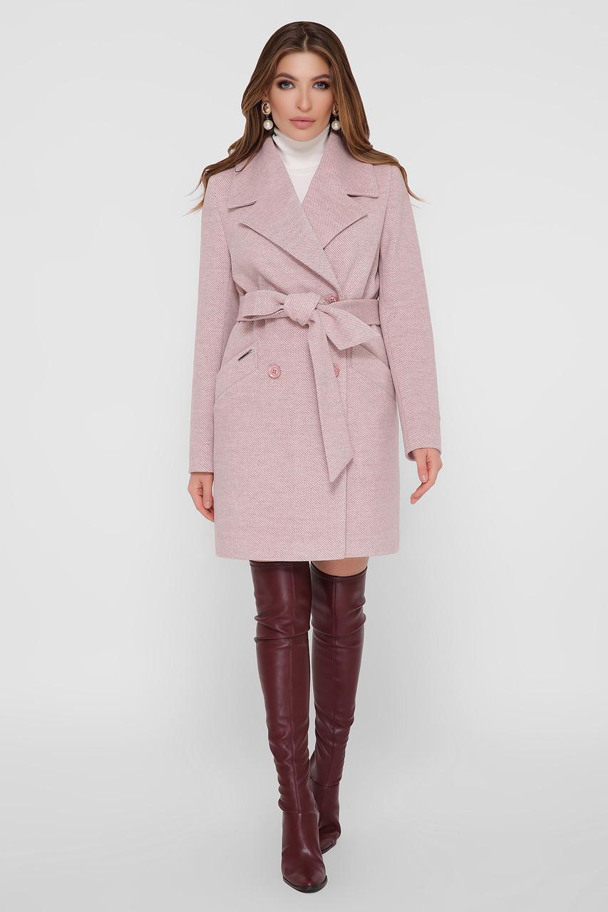 Женское Пальто ПМ-132 GLEM пудра размер 44, (030-0027)