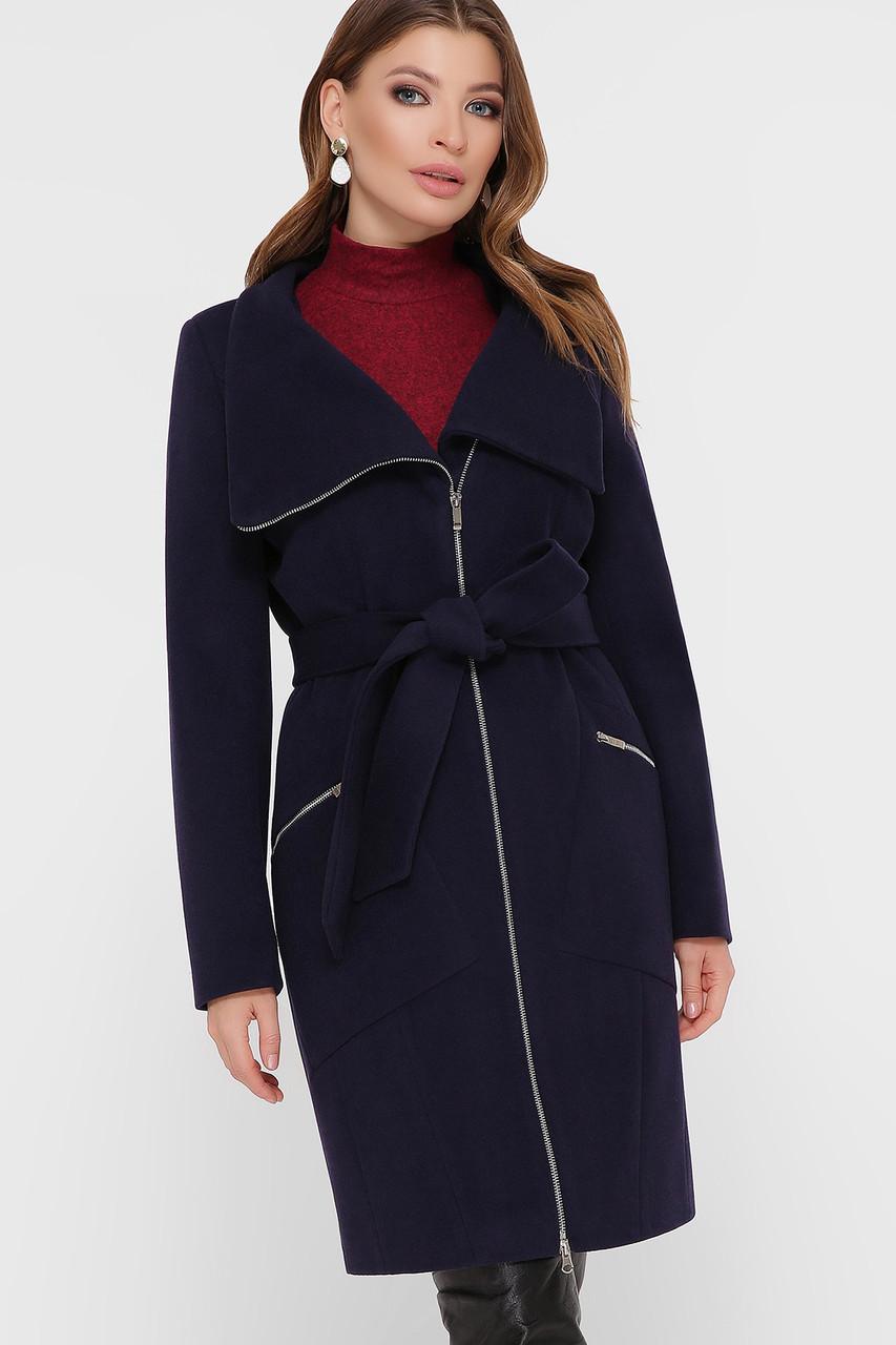 Женское Пальто ПМ-29 GLEM синий размер 50, (030-0028)