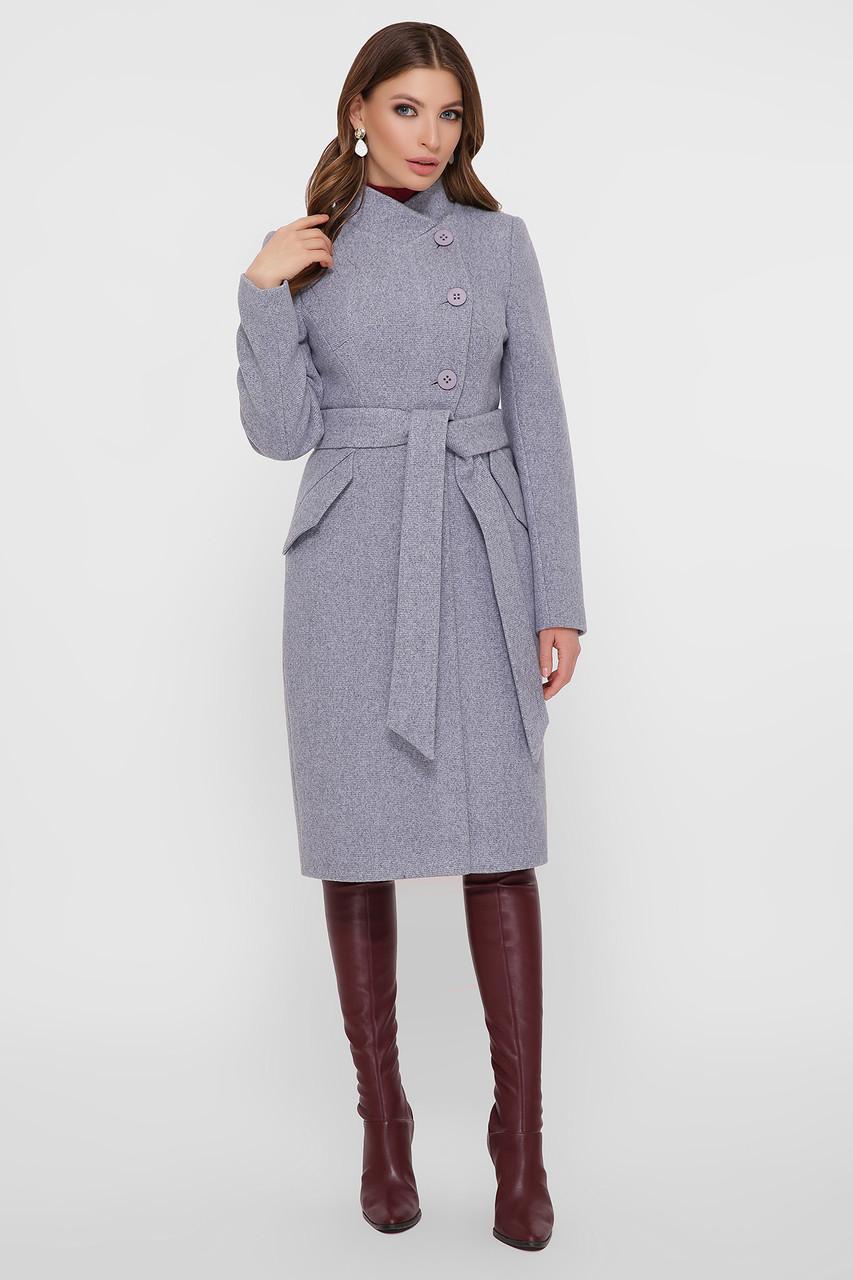 Женское Пальто ПМ-97 GLEM серый размер 42, (030-0030)