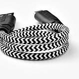 ЛИЛЛЬХУЛЬТ, Кабель USB C/USB, черный, белый, 0.4 м, фото 4