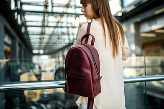 Женский кожаный рюкзак Лимбо, размер средний, кожа итальянский краст, цвет синий, фото 3