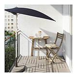 АСКХОЛЬМЕН Пристенный стол, садовый, складной серо-коричневая морилка, 70x44 см, фото 2