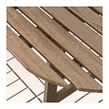 АСКХОЛЬМЕН Пристенный стол, садовый, складной серо-коричневая морилка, 70x44 см, фото 4