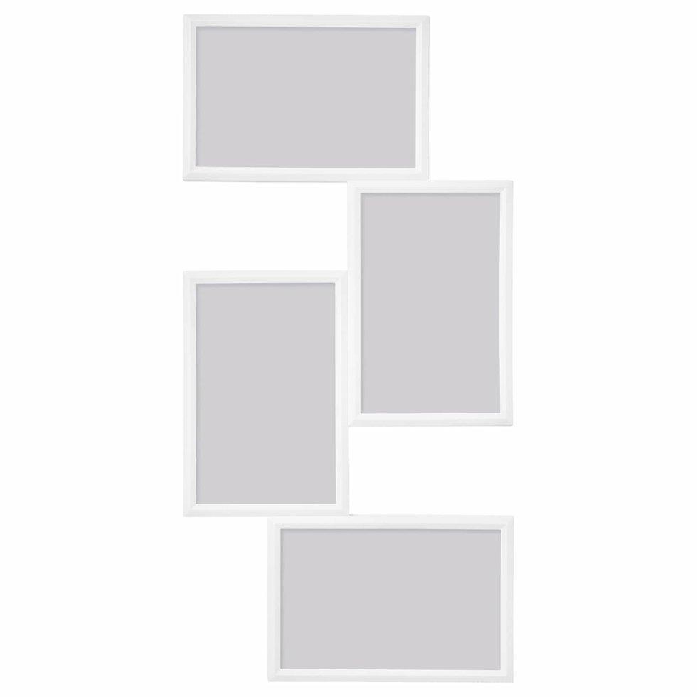 YLLEVAD Рамка на 4 фото, белая, 21х41 см