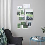 YLLEVAD Рамка на 4 фото, белая, 21х41 см, фото 3
