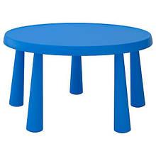 MAMMUT Дитячий стіл, червоний, круглий, 85 см