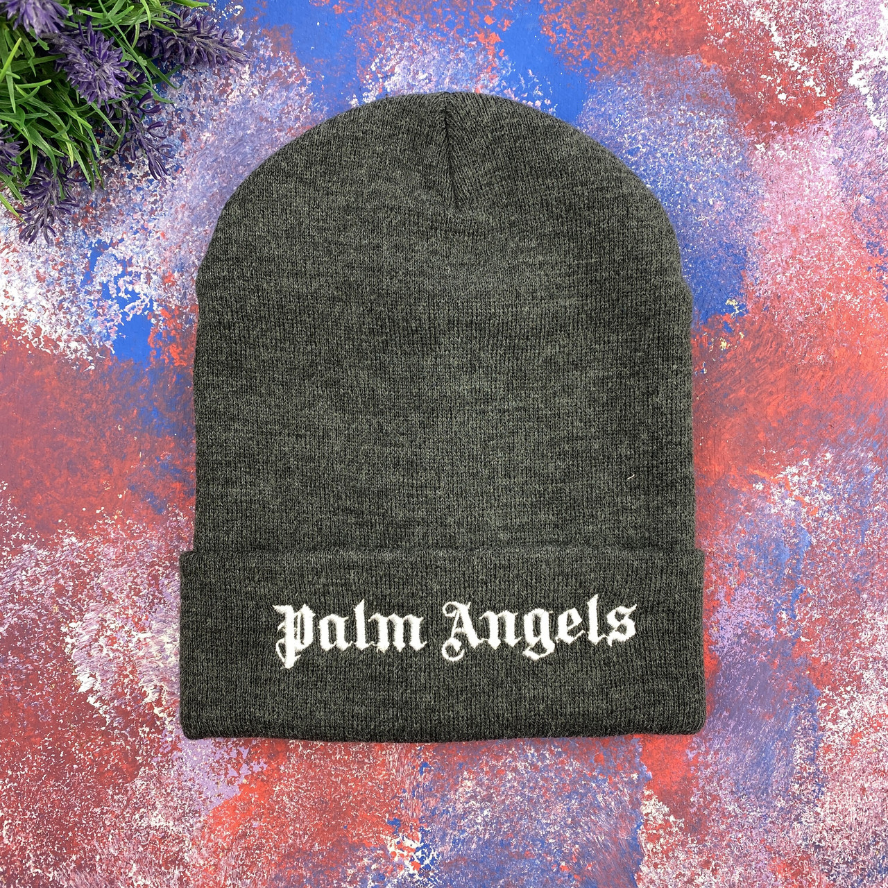 Серая шапка Palm Angels