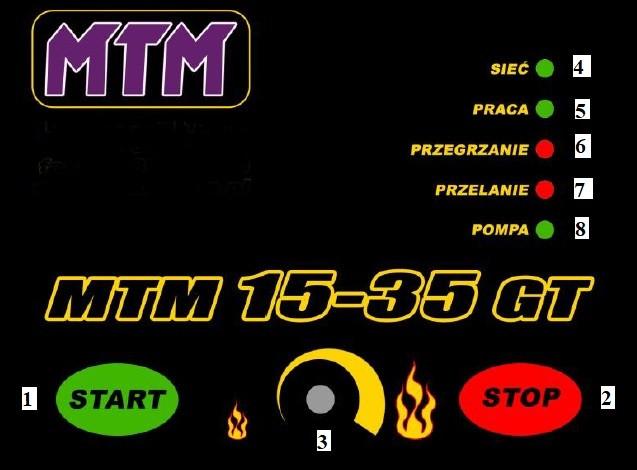 Электронный блок управления Печки на отработке MTM 15-35 GT  Фото