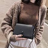 Женская классическая сумочка кросс-боди на широком ремешке 5288/11 черная, фото 9