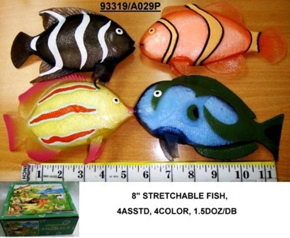 Рыбка Гонконг A029P тянучка, 20см, 4 вида, 4 цв., 18 шт в коробке /цена за штуку/