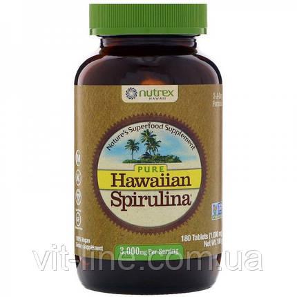 Чистая гавайская спирулина 3000мг 180 таблеток Nutrex Hawaii, фото 2