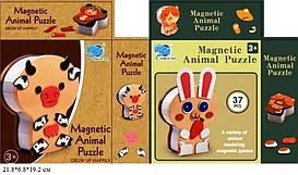 Магнитная игра-пазлы 8826-4/5 животные, 2 вида, кор. 21,8*6,8*19,2 см