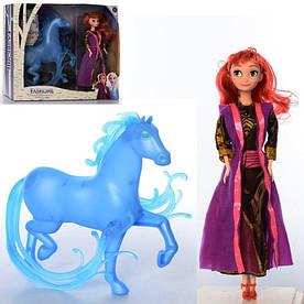 "Кукла 8331 FR ""Холодное сердце"" 28см, лошадка 27см, муз, бат-таб, в кор-ке, 41-32,5-9см"
