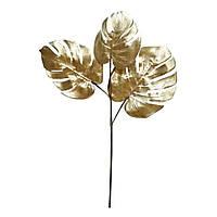 Ветка искусственная Engard Monstera, золото, 65 см (TW-20)